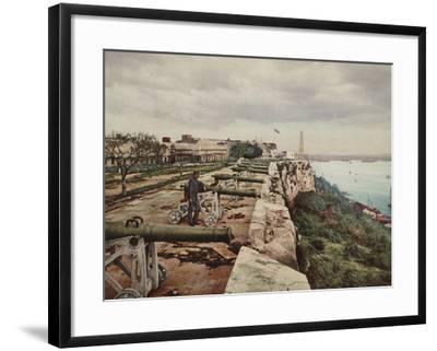 El Parapeto De La Cabana, Havana-William Henry Jackson-Framed Photo