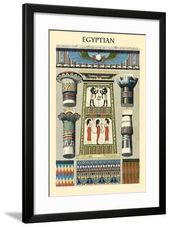 Ornament-Egyptian-Racinet-Framed Art Print
