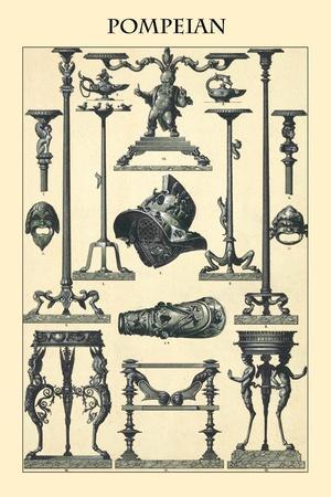 Ornament-Pompeian-Racinet-Framed Art Print
