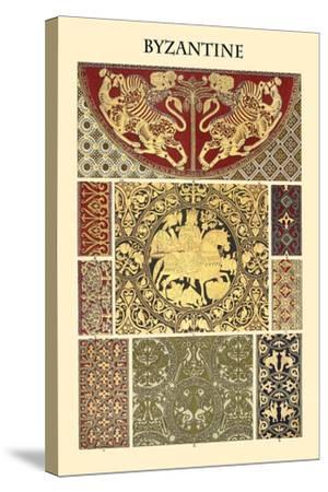 Ornament-Byzantine-Racinet-Stretched Canvas Print
