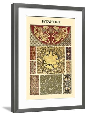 Ornament-Byzantine-Racinet-Framed Art Print