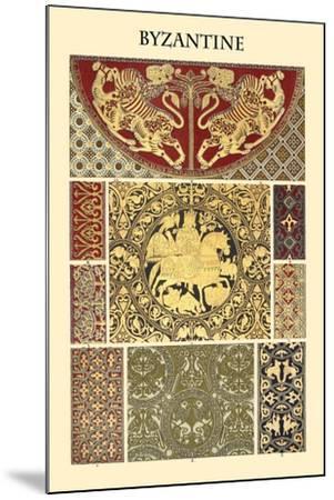 Ornament-Byzantine-Racinet-Mounted Art Print