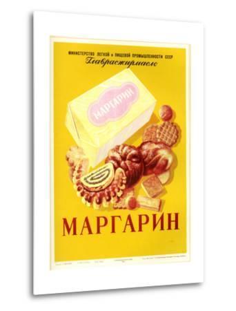 Margarine - with Bread and Cookies--Metal Print