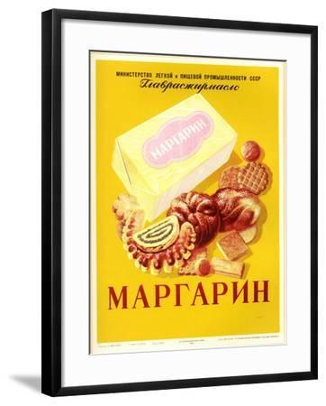 Margarine - with Bread and Cookies--Framed Art Print