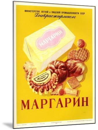 Margarine - with Bread and Cookies--Mounted Art Print