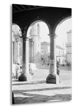 Front of Cathedral, a Bit of Old Havana, Cuba--Metal Print