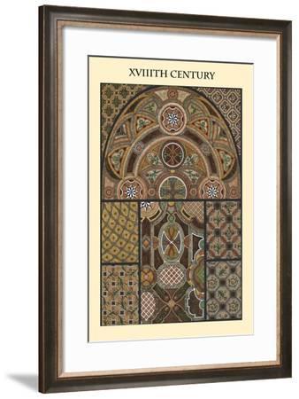 Ornament-XVIIIth Century-Racinet-Framed Art Print