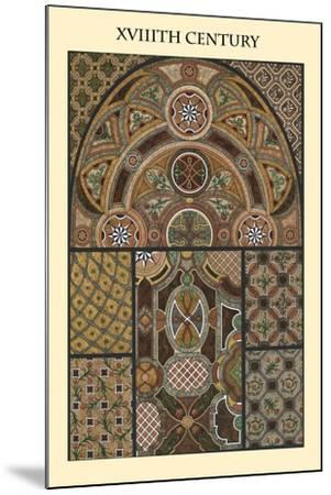 Ornament-XVIIIth Century-Racinet-Mounted Art Print