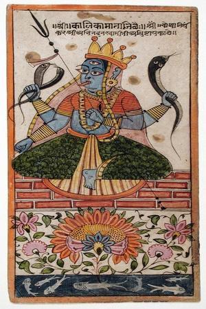 The Goddess Kalika--Framed Art Print