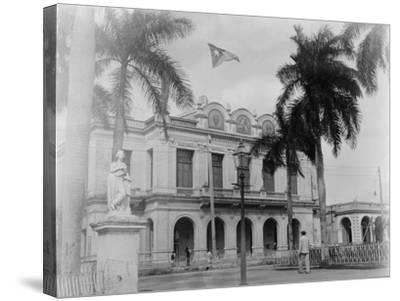 Theatre, Cienfuegos, Cuba--Stretched Canvas Print