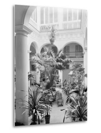 Courtyard, Hotel Florida, Havana, Cuba--Metal Print