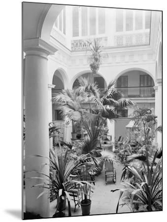 Courtyard, Hotel Florida, Havana, Cuba--Mounted Photo