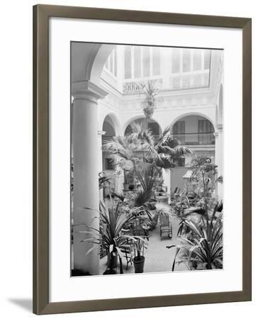 Courtyard, Hotel Florida, Havana, Cuba--Framed Photo
