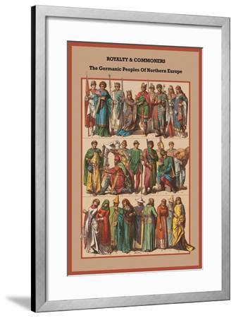 Royalty and Commoners the Germanic Peoples-Friedrich Hottenroth-Framed Art Print