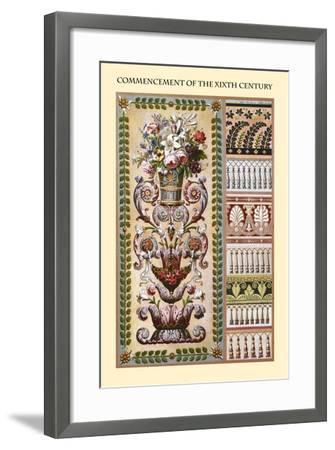 Ornament-Commencement of the XIXth Century-Racinet-Framed Art Print