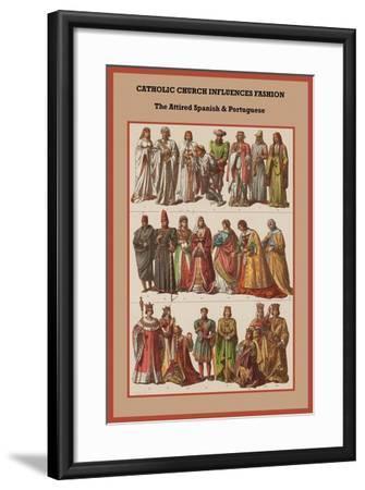 Catholic Church Influences Spanish and Portuguese-Friedrich Hottenroth-Framed Art Print