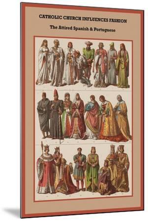 Catholic Church Influences Spanish and Portuguese-Friedrich Hottenroth-Mounted Art Print
