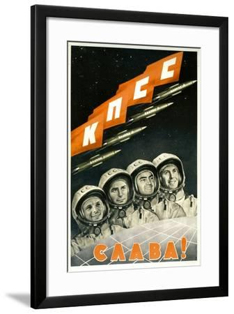 Long Live the Communist Party of the Soviet Union--Framed Art Print