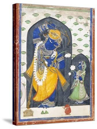 Balarama with Consort--Stretched Canvas Print