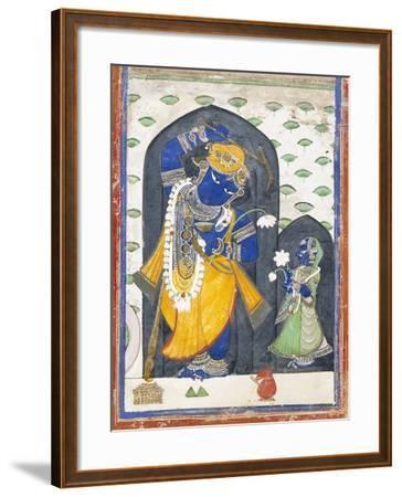 Balarama with Consort--Framed Art Print