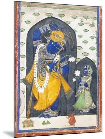 Balarama with Consort--Mounted Art Print