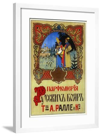 Perfume for Boyars - Russian Nobles and Royalty, Ralle and Co--Framed Art Print