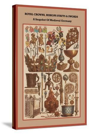 Royal Crowns, Bishops Staffs and Swords - Medieval Germany-Friedrich Hottenroth-Stretched Canvas Print