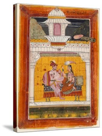 Malkos Raga, Folio from a Ragamala (Garland of Melodies)--Stretched Canvas Print