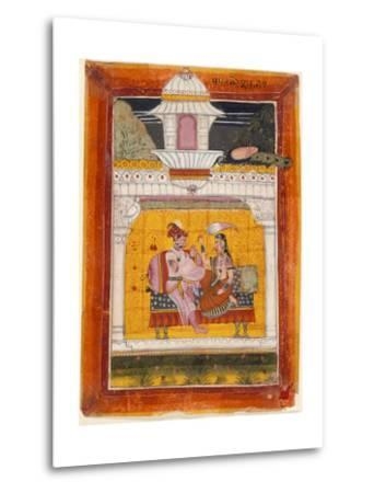 Malkos Raga, Folio from a Ragamala (Garland of Melodies)--Metal Print