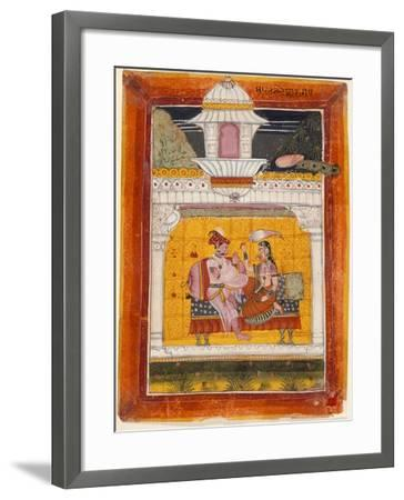 Malkos Raga, Folio from a Ragamala (Garland of Melodies)--Framed Art Print