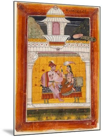 Malkos Raga, Folio from a Ragamala (Garland of Melodies)--Mounted Art Print