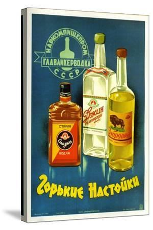 Gorki Liquors--Stretched Canvas Print