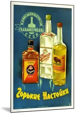 Gorki Liquors--Mounted Art Print