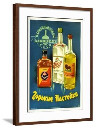 Gorki Liquors--Framed Art Print