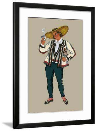 Rich Breton Drinks Hot Tea-Elizabeth Whitney Moffat-Framed Art Print
