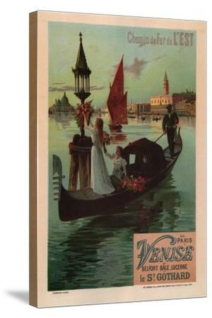 Eastern Railroad Line (1890)-Friedrich Hugo D'Alesi-Stretched Canvas Print