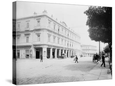 Gran Hotel Inglaterra, Havana, Cuba-William Henry Jackson-Stretched Canvas Print