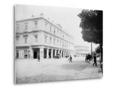 Gran Hotel Inglaterra, Havana, Cuba-William Henry Jackson-Metal Print