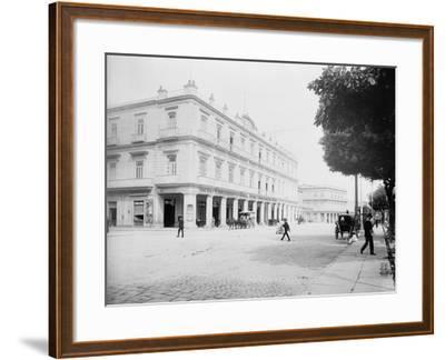 Gran Hotel Inglaterra, Havana, Cuba-William Henry Jackson-Framed Photo