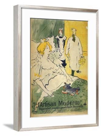 L'Artisan Moderne (1895)-Henri de Toulouse-Lautrec-Framed Art Print