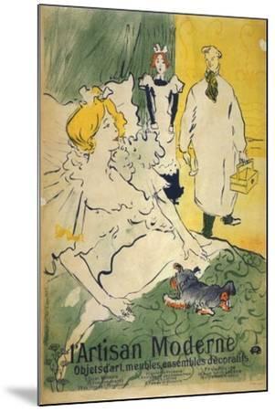 L'Artisan Moderne (1895)-Henri de Toulouse-Lautrec-Mounted Art Print