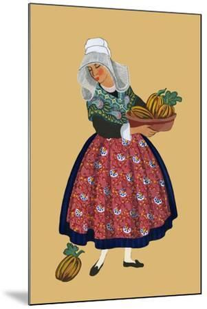 A Young Girl from Champagne Carries Gourds-Elizabeth Whitney Moffat-Mounted Art Print