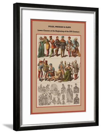 Poles, Prussian and Slavs Lower Classes at the Beginning of the XVI Century-Friedrich Hottenroth-Framed Art Print