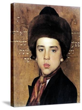 Portrait of a Boy-Isidor Kaufmann-Stretched Canvas Print