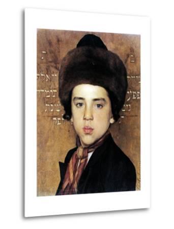 Portrait of a Boy-Isidor Kaufmann-Metal Print