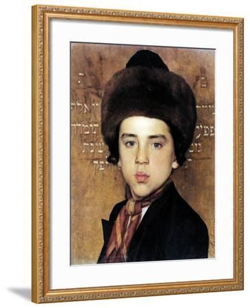 Portrait of a Boy-Isidor Kaufmann-Framed Art Print