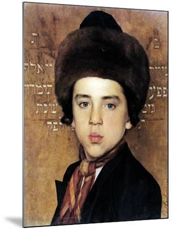 Portrait of a Boy-Isidor Kaufmann-Mounted Art Print