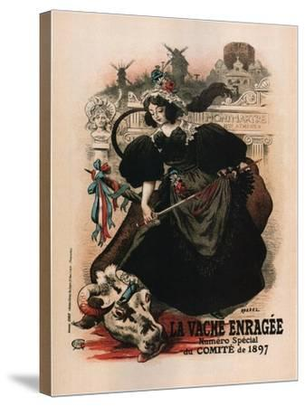 La Vache Enragee-Auguste Roedel-Stretched Canvas Print
