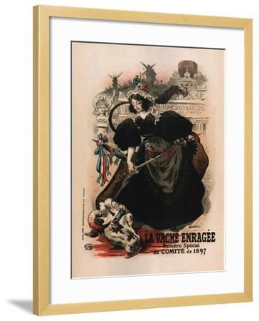 La Vache Enragee-Auguste Roedel-Framed Art Print