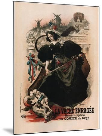 La Vache Enragee-Auguste Roedel-Mounted Art Print